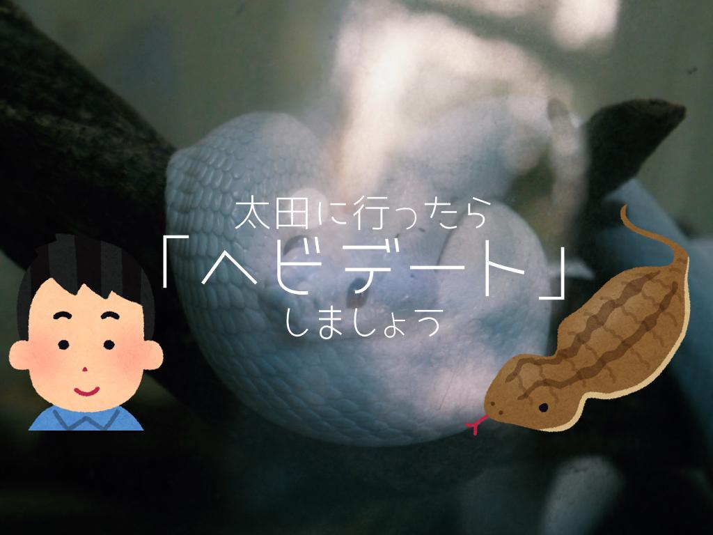 【提案】太田に行ったら「ヘビデート」しましょう